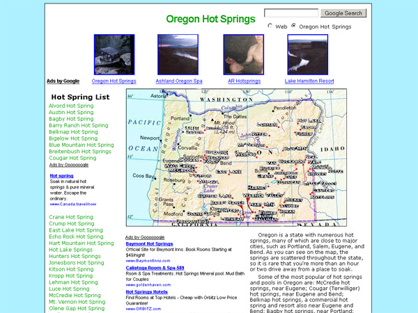 OregonHotSprings.Immunenet.Com
